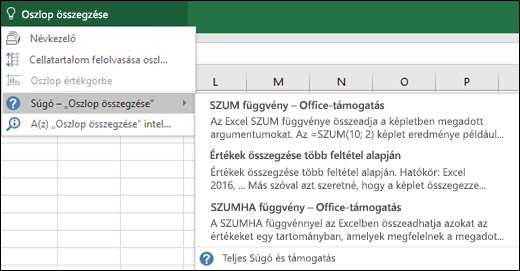 Kattintson az Excelben a Mutasd meg mezőbe, és írja be, hogy mit szeretne tenni. A Mutasd meg funkció megkísérel segítséget nyújtani a feladat elvégzéséhez.