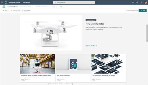 Példa: a branding webhely kezdőlapja