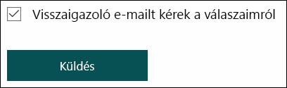 Válasz küldése e-mailben a Microsoft űrlapokon