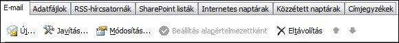 Outlook – 2010 Új fiók felvétele