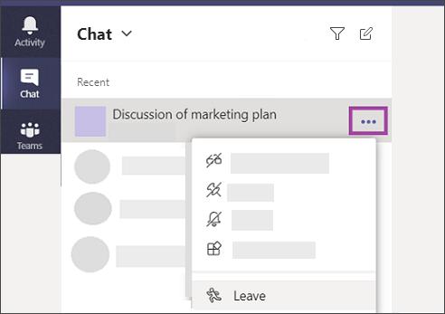 Kilép a csevegésből. Csevegések, hívások és csoportok a Microsoft Kaizalaban - Office