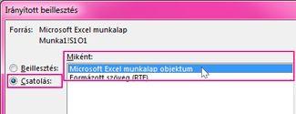 Microsoft Excel választása