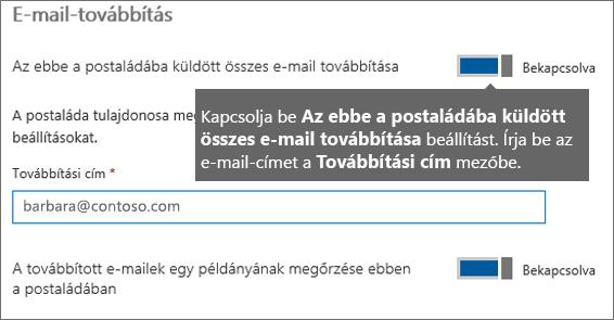 Adja hozzá az aktuális alkalmazott e-mail-címét.