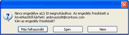 Párbeszédpanel, amelyen az látható, hogy egy korlátozott hozzáférésű dokumentumot jogosulatlan felhasználónak továbbítottak