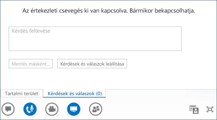 Képernyőkép: kérdések és válaszok előadója