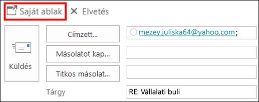Grafikus elemek hozzáadása az üzenethez az Outlookban - Outlook