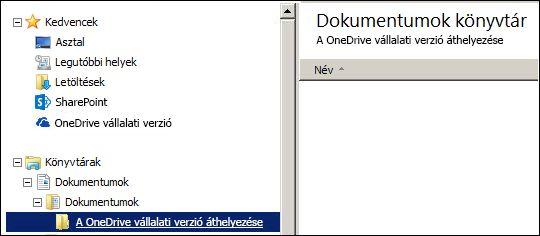 Az Office 365-be áthelyezendő fájlok átmeneti tárolására szolgáló mappa