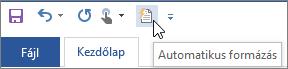 Az Automatikus formázás ikon