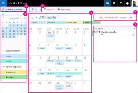A naptárral kezelheti az értekezleteit és más eseményeit.