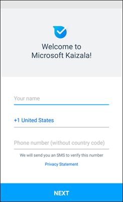 Kaizala – első lépések