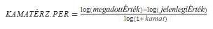KAMATÉRZ.PER függvény egyenlete