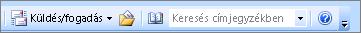 Az Outlook 2007-es keresési címmezőbe címjegyzék