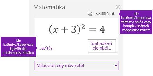 A matematikai munkaablak egyenlet