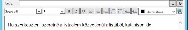 E-mail-üzenet meghatározása a változó beszúrása után