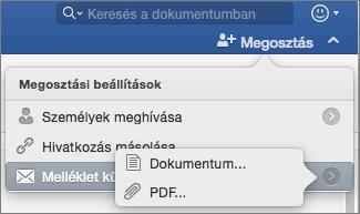 Válassza ki a formátumot a dokumentum elküldjük, Word-dokumentum- vagy PDF formátumú.