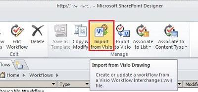 Import workflow
