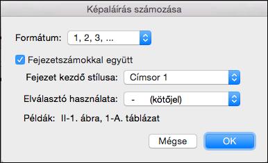 Fejezetszámok automatikus hozzáadása a feliratokhoz a Wordben