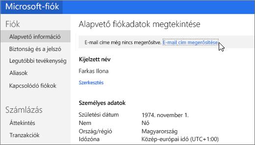 E-mail cím ellenőrzése