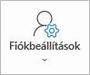 Az Outlook Fiókbeállítások gombja