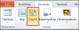 On the Insert tab, in the Pictures group, click Clip Art.