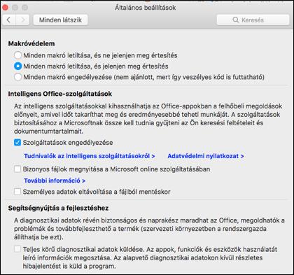 A Mac gépen funkció intelligens hozzáférésének engedélyezése