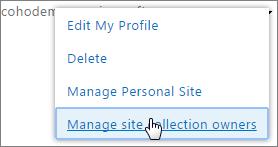 Személyes webhely kezelése