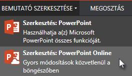 Megnyitás a PowerPoint Online-ban