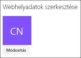 A webhely emblémájának módosítására szolgáló SharePoint-párbeszédpanel képe.