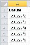 Átalakított dátumok