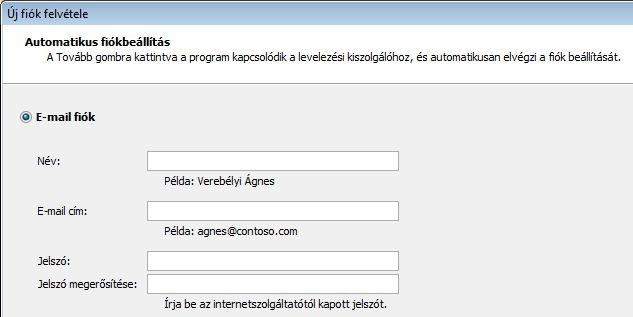 Outlook 2010 – név és e-mail cím hozzáadása