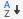 Növekvő rendezés ikon