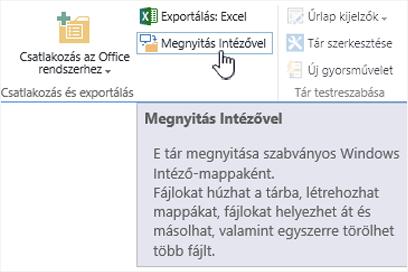 A SharePoint 2016 Megnyitás Intézővel beállítása az Internet Explorer 11-ben