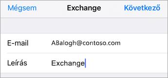 Exchange-bejelentkezés