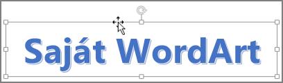 WordArt-elem, az egérmutató négyirányú nyíl