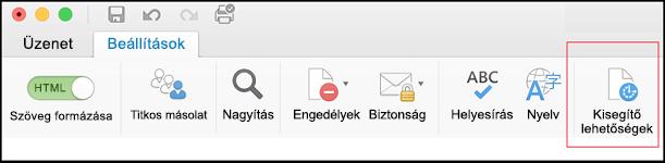 A felhasználói felület képernyőképe az Outlookban az Akadálymentesség-ellenőrző megnyitásához