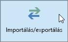 Képernyőkép – Az Outlook 2016 Importálás/exportálás gombja