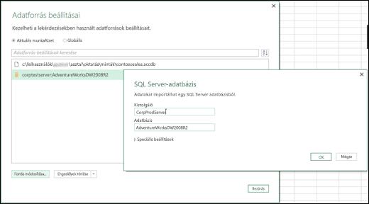 Excel Power BI – Továbbfejlesztett adatforrás-beállítások