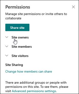 Webhely engedélyei párbeszédpanel