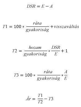 Ár képlet, ha N <= 1