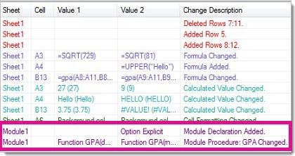 Changes to a macro in results grid