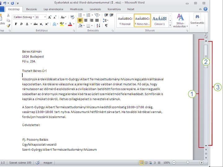 Word 2010-dokumentum