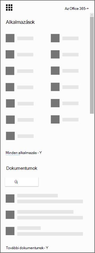 Az Office 365 app-indítója