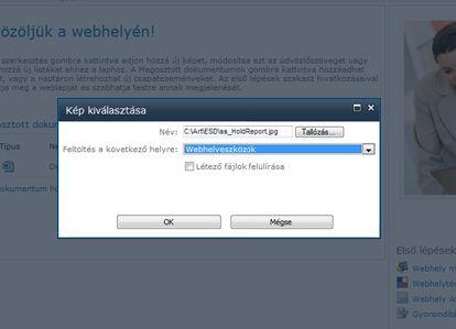 Kép felvétele webhelyre