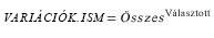 VARIÁCIÓK.ISM függvény egyenlete