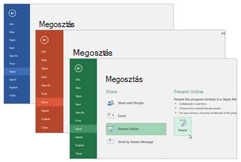 Együttműködés más Office 365-alkalmazásokkal