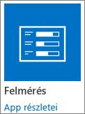 A Felmérés app ikonja a SharePointban