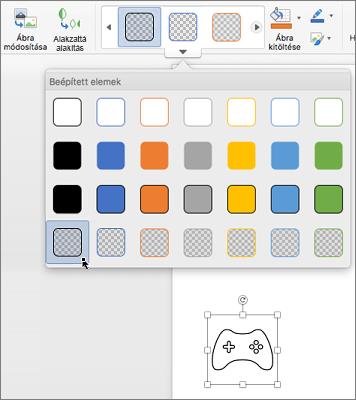 Ikon grafikus stílusának szerkesztése