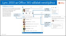 Miniatűr segítségként a Lync 2010 és az Office 365 közötti váltáshoz
