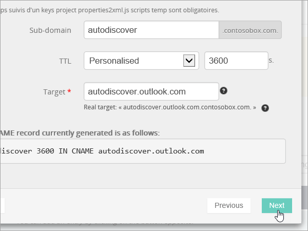 OVH Add CNAME values and select Next_C3_201752910115