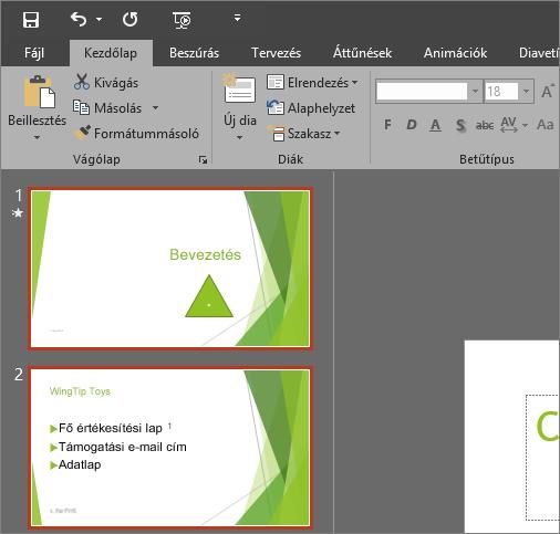 A PowerPoint 2016 megjelenítése a Sötétszürke témával